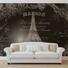NON WOVEN DECORATIVE Photo Wallpaper VINTAGE EIFFEL TOWER Wall Mural (2427VE)