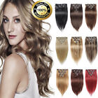 Extra Thick Clip In Remy Human Hair Extensions DIY Full Head Valentines Day
