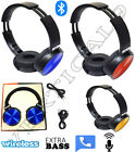 Bluetooth Wireless Over-Ear Headphones With Microphone Extra Bass Stereo Headset