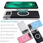 10000mAh Power Bank Qi Wireless Charging 2 USB LCD LED Small Battery Charger