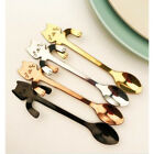 Cute Cat Stainless Steel Ice Cream Cocktail Teaspoons Coffee Tea Spoons Current