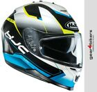 HJC IS-17 Loktar Blue White Black Fluo Yellow Motorcycle Helmet IS17 PINLOCK