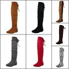 Women Flat Fashion Over Knee Suede Thigh High Imported Ladies Winter Boots New