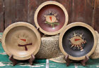 Country Primitive Wooden Snowman Bowls Choice of Colors!