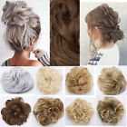 Curly Messy Bun Hair Piece Scrunchie Chignon Hair Extensions Real as human ssf5