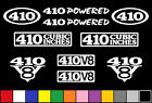 410 CI V8 POWERED 10 DECAL SET ENGINE STICKERS EMBLEMS FENDER BADGE DECALS