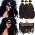 Brazilian Curly Human Hair Ear To Ear 13*4 Lace Frontal Closure With Bundles MY