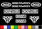 302 CI V8 POWERED 10 DECAL SET 5.0 ENGINE STICKERS EMBLEMS FENDER BADGE DECALS