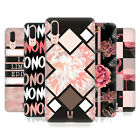 HEAD CASE DESIGNS BLACK & PINK HARD BACK CASE FOR HUAWEI PHONES 1