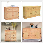 Panana Oak Pine Sideboard Buffets Cupboard Large Cabinet with Door and Drawer