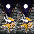 Minnesota Vikings Cornhole Wrap NFL Game Rocks Skin Board Set Vinyl Decal CO82 on eBay