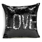 Created Hot DIY Two Tone Glitter Sequins Throw Pillows Cafe Home Decorative Cush