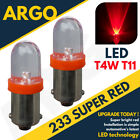 233 T4w Ba9s T11 Mcc Rw233 Super Led Xenon Power Red Hid Sidelight Bulbs 12v