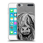 OFFICIAL STEVEN BROWN HIGHLAND COW B&W SOFT GEL CASE FOR APPLE iPOD TOUCH MP3