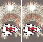 Kansas City Chiefs Cornhole Wrap NFL Game Skin Board Set Vinyl Art Decor CO129 $39.95 USD on eBay