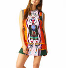 adidas Originals Mary Katrantzou Mini Tank Digital Print Crepe Tennis Vest Dress