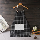 Kitchen Apron 100% Cotton Washable with 2 Pockets Cooking Cafe Baking Bar Family