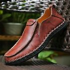 Mens Driving Casual Boat Shoes Leather Shoes Comfort Moccasin Slip On Loafers