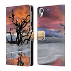 OFFICIAL CELEBRATE LIFE GALLERY BEACHES LEATHER BOOK CASE FOR HTC PHONES 2