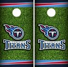 Tennessee Titans Field Cornhole Wrap NFL Skin Game Board Set Vinyl Art CO145 on eBay