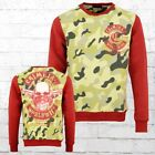 Mafia and Crime Sweater Worldwide camouflage rot Männer Pullover Sweatshirt