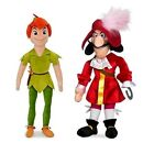 OFFICIAL DISNEY PETER PAN or CAPTAIN HOOK MEDIUM SOFT PLUSH TOY DOLL