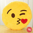 HOT! Emoji Many Expressions Decorative Bed Pillow Yellow Round Plush Soft Doll