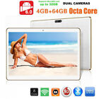 """10.1"""" Inch Android Tablet PC Unlocked 3G Dual Camera GPS Octa Core 4+64G Phablet"""