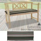2 & 3 Seater Bench Cushions Outdoor Garden Seat Pad Patio Furniture Swing Chairs