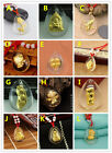 Free Shipping J.Shou 999 24K Yellow Gold & Crystal Lucky Crystal Pendant