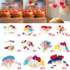 50pcs Home Cupcake Toppers Glitter Home Party Cupcake Decora
