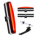 USB Rechargeable LED Bicycle Bike Cycling Rear Light 6 Mode Lamp COB Night Band