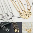 3 Pcs/Set Lettering Little Sis Mom Sis Big Sis Heart Pendant Necklace N98B