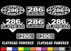 10 DECAL SET 286 CI V8 POWERED ENGINE STICKERS EMBLEMS FLATHEAD STROKER DECALS