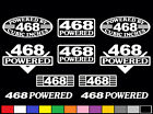10 DECAL SET 468 CI V8 POWERED ENGINE STICKERS EMBLEMS .060 454 VINYL BBC DECALS