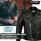 Leather Brando Motorbike Jacket Mens Black Marlon Leather Motorcycle Armoured