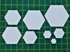 HEXAGON PATCHWORK PAPER TEMPLATES FOR E P P~120GSM PAPER~ALL SIZES & QUANTITIES