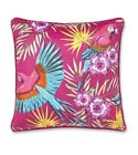 Catherine Lansfield Exotic Parrot Cushion Cover Pink 43 x 43cm