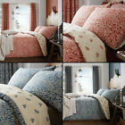 Catherine Lansfield Moroccan Paisley Cotton Rich Duvet Quilt Cover Set Red Blue