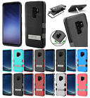 for Samsung Galaxy S9 Plus G965 TUFF Rugged Rubber Case Cover Kickstand +PryTool