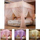 Princess 4 Corners Post Bed Curtain Canopy Mosquito Netting Poster Canopies Net image