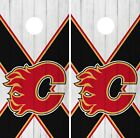Calgary Flames Cornhole Wrap NHL Wood Game Board Skin Set Vinyl Decal CO186 $39.95 USD on eBay