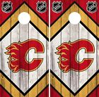 Calgary Flames Cornhole Wrap NHL Vintage Game Board Skin Set Vinyl Decal CO187 $39.95 USD on eBay