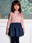 Anthem of the Ants Girls Dress Blush Pink Jersey and Chamnray Size 4T, 5, 6 NWT