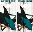 San Jose Sharks Cornhole Wrap NHL Logo Game Board Skin Set Vinyl Decal Art CO210 $39.95 USD on eBay
