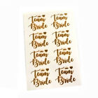 PACK OF 8 TEAM BRIDE GOLD TEMPORARY TATTOOS HEN PARTY NIGHT DO