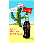 Coca-Cola Cactus Enjoy That Real Great Taste Wall Decal Vintage Style Decor $19.99  on eBay