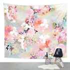 Watercolor Flower Wall Hanging Tapestry Bedspread Living Room Home Decoration