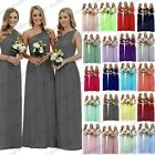 New Long Chiffon Evening Formal Party Ball Gown Prom Bridesmaid Dress Size 6~24
