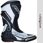 RST Tractech EVO 3 White Sports Race Boot Motorcycle Boots CE APPROVED